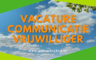 Vacature communicatie vrijwilliger